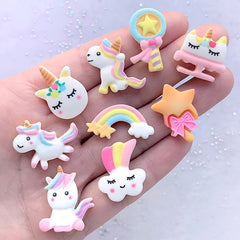 Dollhouse Miniature Sugar Cookie Assortment | Kawaii Decoden Cabochons | Faux Sweets Jewelry DIY (9 pcs)