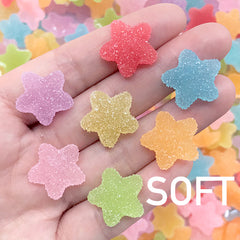 Star Sugar Candy Cabochons | Faux Food Jewellery DIY | Fake Gummy Candies | Jelly Candy Decoden Piece (10 pcs by Random / 18mm x 18mm)
