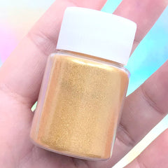 Golden Pearl Pigment Powder | Epoxy Resin Colorant | Pearlescence UV Resin Coloring | Shimmery Paint (Gold / 4-5 grams)