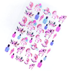 Pink Unicorn and Magical Potion Clear Film Sheet | Kawaii Embellishments for UV Resin Art | Cute Resin Inclusions