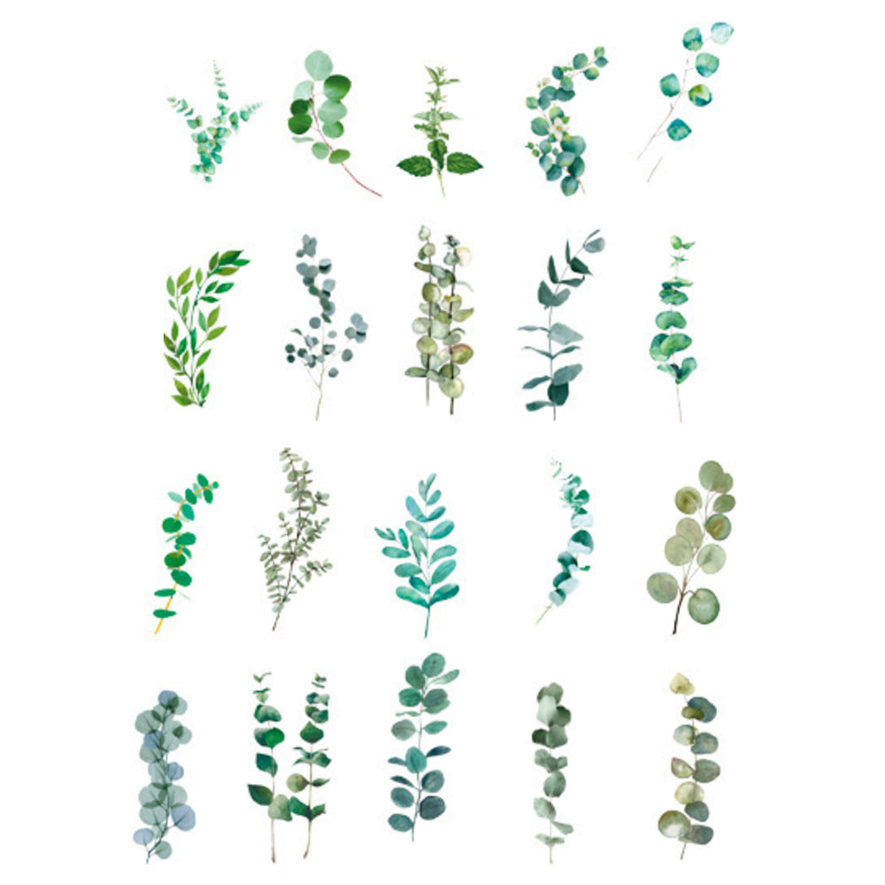Realistic Pressed Leaves Stickers | Assorted Leaf Embellishments for Herbarium | Resin Art | Scrapbook Supplies (40 pcs)
