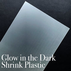 Glow in the Dark Shrink Plastic Sheet | Shrinkable Plastic Film | Kawaii Brooch DIY | Cute Pendant Making | Papercraft Supplies (1 Sheet / Translucent / 20cm x 29cm)