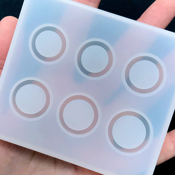 Assorted Ring Silicone Mold (6 Cavity) | Circle Mold Assortment | Epoxy  Resin Jewelry DIY | Soft Clear Mold for UV Resin