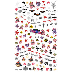 Creepy Cute Halloween Sticker for Nail Decoration | Kawaii Goth Embellishments for Resin Craft | Nail Art Supplies