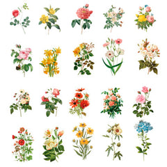 Realistic Pressed Flower Sticker Assortment | Floral Embellishments for Herbarium | Resin Art Supplies | Planner Decoration (40 pcs)