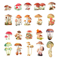 Fairytale Mushroom Stickers | Nature Embellishments for Herbarium | Resin Craft Supplies | Home Decoration (40 pcs)