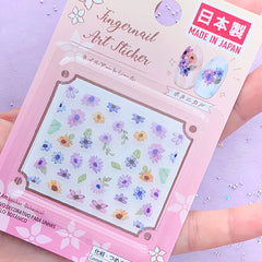 Floral Stickers for Nail Decoration | Mini Flower Nail Art Sticker | Clear Sticker for Resin Crafts