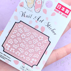 3D Plum Blossom Stickers for Nail Design | Mini Floral Nail Art Sticker | Flower Embellishments for Resin Crafts