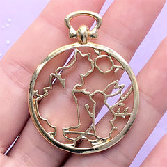 5X Frog turtle seahorse UV Resin Frame Pendant Open Bezel Setting Jewelry Making