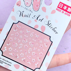 Mini Sakura Stickers | Cherry Blossom Nail Design | Flower Embellishments for Resin Art | Floral Decoration