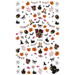 Halloween Pumpkin Haunted House Ghost Spider Web Black Cat Stickers | Nail Art Supplies | Resin Decoration