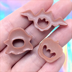 Halloween Biscuit Cabochon Assortment | Faux Cookie Embellishments | Kawaii Decoden Phone Case DIY (3 pcs)