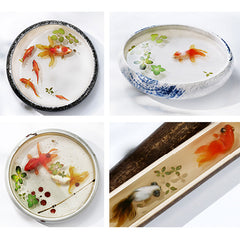 3D Goldfish Sticker for Resin Art | Koi Fish Clear Film with 3D Resin Painting Effect | Koi Pond Resin Inclusions (2 Sheets)