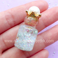 CLEARANCE 3D Crown Embellishments | Kawaii Jewellery Supplies | Crown Cap for Fairy Bottle Making (4pcs / 21mm x 12mm)
