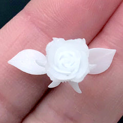 3D Rose Embellishment for Resin Craft | Flower Resin Inclusions | Floral Resin Jewellery Supplies (2 pcs / 22mm x 35mm)