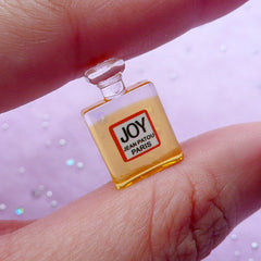 Dollhouse Fragrance Cabochon | Miniature Eau de Parfum Bottle | Doll House Perfume (Orange / 11mm x 18mm)