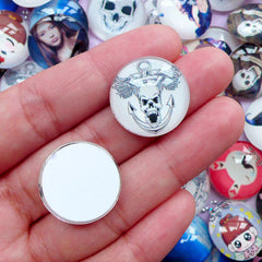 20mm Dome Photo Cabochons | Round Picture Cabochon | Image Cabochon (5pcs by Random / Flat Back)