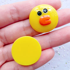 Chicken Cabochons | Resin Character Cabochon | Kawaii Embellishments | Cute Animal Decoden Pieces (2 pcs / 23mm x 23mm / Flatback)