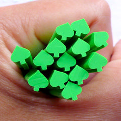 Playing Card Polymer Clay Cane | Fimo Canes for Nail Art | Card Suit Spade Embellishments (Green)