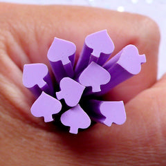 Playing Card Suit Spade Fimo Clay Canes | Polymer Nail Art | Casino Embellishments (Purple)