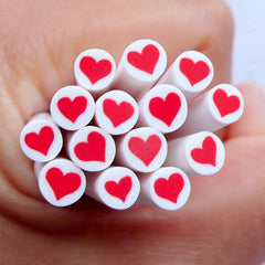 Polymer Clay Cane Supplies | Red Heart Fimo Cane | Nail Design | Wedding Decoration | Card Making | Stud Earrings DIY | Resin Art | Mixed Media with Epoxy Resin