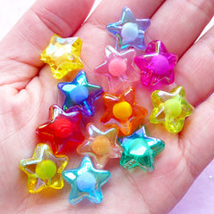AB Star Beads Mix | Assorted Acrylic Aurora Borealis Beads (12 pcs / 16mm)