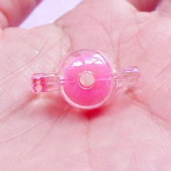 Fairy Kei Candy Beads | Kawaii Chunky Beads | Cute Acrylic Beads (AB Pink / 10 pcs / 11mm x 22mm)