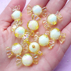 Kawaii Beads | Cute Chunky Bead | Rainbow Candy Jewelry (AB Yellow / 10 pcs / 11mm x 22mm)