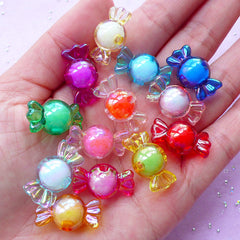 Assorted Candy Acrylic Beads | Kawaii Decoden Supplies (13 pcs / 11mm x 22mm)