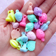 Pastel Acrylic Charms | Fruit Pendant Assortment | Kawaii Jewellery Making (Colorful Mix / 20 pcs)