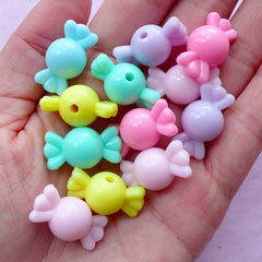 Fairy Kei Beads | Pastel Candy Beads | Acrylic Chunky Bracelet & Necklace Making (Colorful Mix / 12 pcs / 22mm x 11mm)