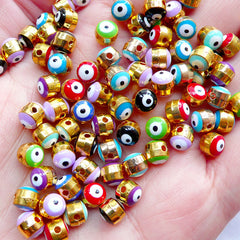 Tiny Ayin Hara Beads | Sacred Evil Eye Bead | Protective Nazar Jewelry Making | Talisman Bead Supplies (5pcs / Assorted Mix / 5mm / 2 Sided)