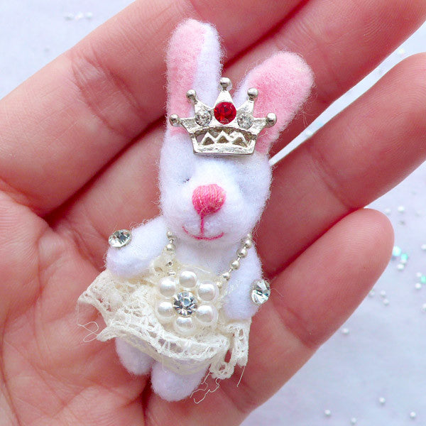 Cuddly Toy Charm | Fabric Bunny Doll Charm | Rabbit Toy Charm | Stuffed Doll Charm | Plush Toy Charm | Small Animal Doll Charm | Soft Toy Charm (Cream / 25mm x 50mm)