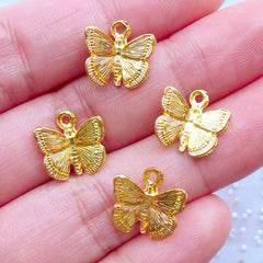 CLEAR AB 2 X FACETED GLASS BUTTERFLY PENDANTS 30MM