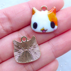 Kawaii Hamster Charms | Cute Pet Charm | Painted Animal Pendant | Colorful Jewelry Making (2 pcs / 17mm x 17mm)
