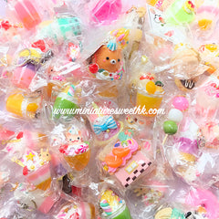 Miniature Sweet Keychain | Fake Food Jewelry | Sweets Deco | Kawaii Accessory (1 piece by RANDOM)