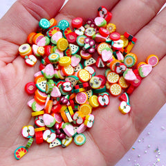 Polymer Clay Fruit Slices (Thick) | Fimo Clay Cane Supplies | Earrings Making & Resin Craft (150pcs by Random)