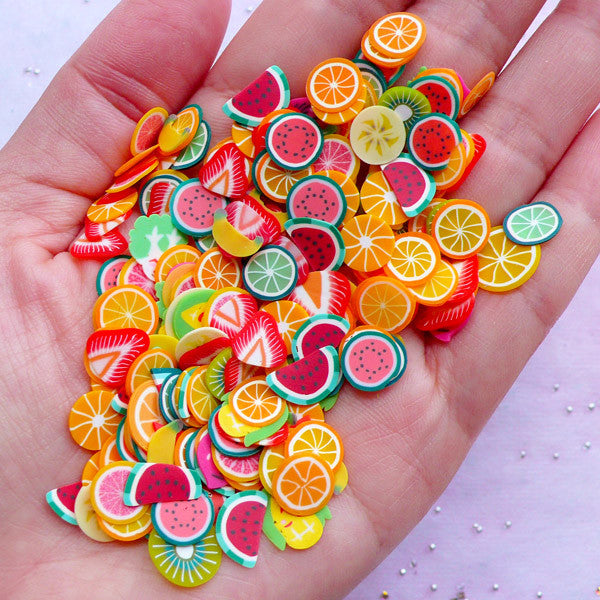 Fruit Polymer Clay Slices (Big) | Vegetable Fimo Clay Cane Slices | Mi |  MiniatureSweet | Kawaii Resin Crafts | Decoden Cabochons Supplies | Jewelry  Making