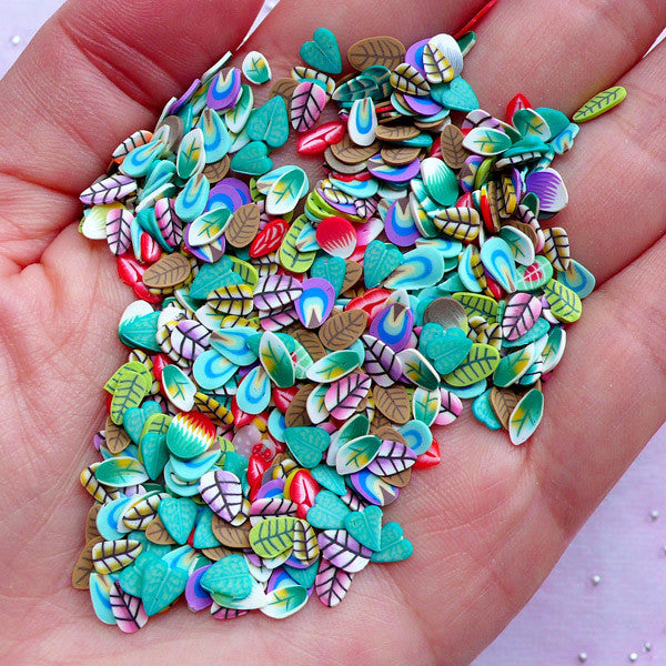 Nail Art Supplies | Floral Polymer Clay Slices | Leaf Fimo ...