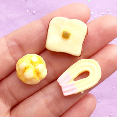 5pcs Choocolate Rolls Kawaii Resin Cabochons Embellishment Decoden Craft