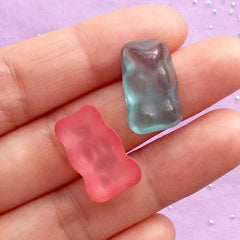 Kawaii Candy Cabochons | Faux Gummy Bear Cabochon | Fake Food Jewelry Making | Decoden Phone Case  (8pcs / Assorted Mix / 11mm x 19mm)