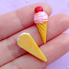 Assorted Ice Cream Cabochons | Kawaii Phone Case Deco | Dessert Cabochon | Decoden Supplies | Miniature Sweets Deco (8pcs / Colorful Mix / Flat Back)
