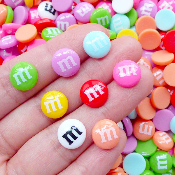 Chocolate Candy Cabochons | Kawaii Sweets Deco | Fake Food Jewelry Making (8pcs by Random / 10mm)