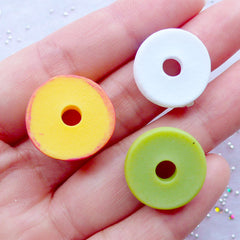 Kawaii Character Donut Cabochons | Cute Animal Doughnut Cabochon | Miniature Sweets Embellishments | Decoden Supplies | Doll Food Cabochon (12pcs / Assorted Mix / 18mm / Flat Back)