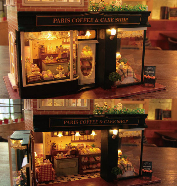 Dollhouse Paris Coffee Amp Cake Shop With Music Box And Led