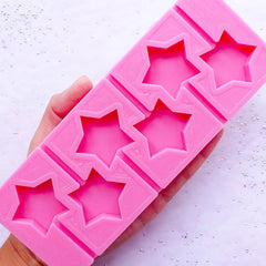 Kawaii Star Lollipop Silicone Mould (6 Cavity) | Candy Cabochon Making | Flexible Mold for Resin Crafts