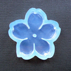 Cherry Blossom Silicone Mold | Flexible Sakura Mould | Floral Cabochon Making & Decoden Craft Supplies (37mm)
