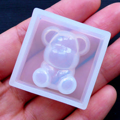 Small Bear Mold | Animal Mold | Kawaii Silicone Mold | Decoden Cabochon Making | Epoxy Resin Mold | Soft Clear Mould (19mm x 24mm)