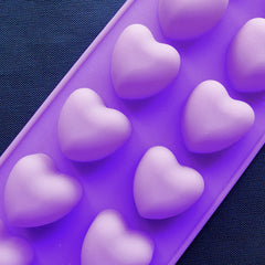 Heart Silicone Mold (12 Cavity) | Valentine's Day Chocolate Mould | Flexible Epoxy Resin Mold | Small Soap Mold | Wedding Party Supplies (30mm x 30mm)