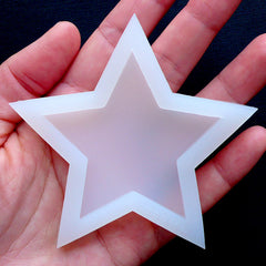 Big Star Silicone Mold | Decoden Cabochon Flexible Mould | Kawaii Epoxy Resin Soft Mold (59mm x 55mm)